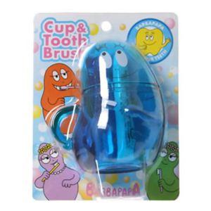 バーバパパ コップ付き歯ブラシ ピカリ 【3セット】 - 拡大画像