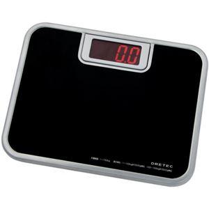 (お徳用 2セット) ドリテック ビッグLED 体重計 ブラック BS-116BK ×2セット - 拡大画像