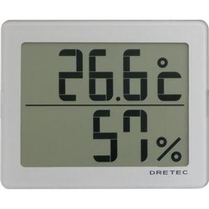 ドリテック デジタル温湿度計 シルバー O-226SV - 拡大画像