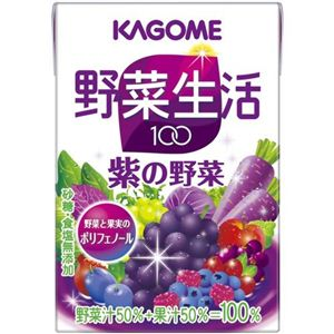 【ケース販売】カゴメ 野菜生活100 紫の野菜 100ml×36本 - 拡大画像