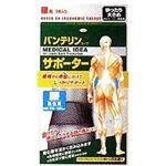 (まとめ買い)バンテリンコーワサポーター男性 腰用 ゆったり大きめ(LL)105-120cmブラック 1枚入×2セット