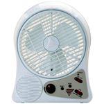 充電式サーキュレーター(充電式扇風機) 【LEDライト・FMラジオ搭載】 circ-001