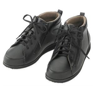 あゆみシューズ 寒冷地用 ワイドファスナーブーツ黒5016 (左足用) 4L - 拡大画像