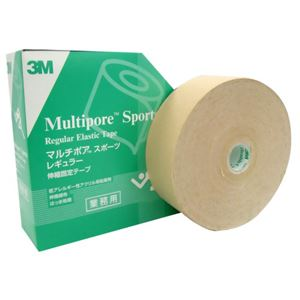 3M マルチポア スポーツ 粘着性綿布伸縮包帯 50mm×33m 1ロール - 拡大画像