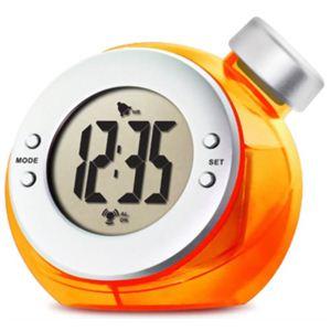 ベルソス ウォーター バッテリー アラームクロック(目覚まし時計) オレンジ VS-302 - 拡大画像