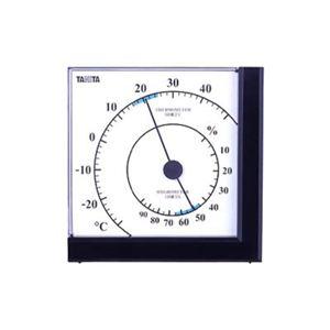 タニタ 温湿度計 TT-536-BK ブラック - 拡大画像