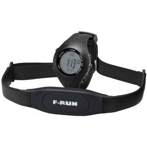 F-RUN(エフラン) ハートレートモニター HRM002 ブラック - 拡大画像