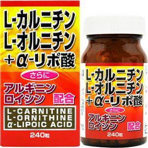 (お徳用 2セット) ユウキ製薬 L-カルニチン+α-リポ酸 240粒 ×2セット - 拡大画像