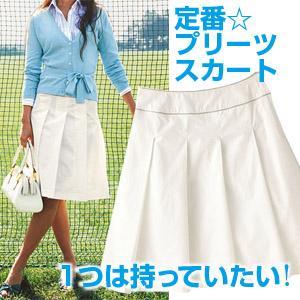 ソフトプリーツスカート オフホワイト  38 - 拡大画像