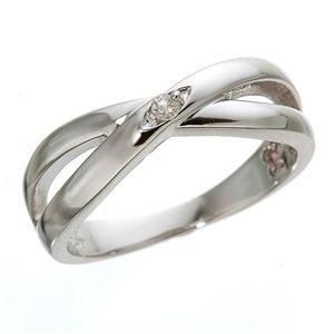 ダイヤリング 指輪インサイドバースデイストーンリング アクアマリン(3月)15号 - 拡大画像