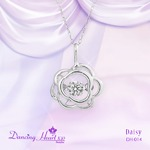 クロスフォーDancing Heart(ダンシングハート) DH-014 【Daisy】 ダイヤモンドペンダント/ネックレス
