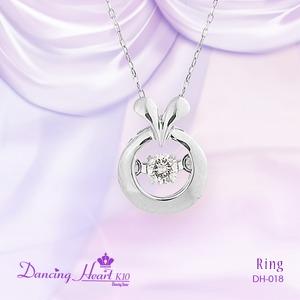 クロスフォーDancing Heart(ダンシングハート) DH-018 【Ring】 ダイヤモンドペンダント/ネックレス - 拡大画像