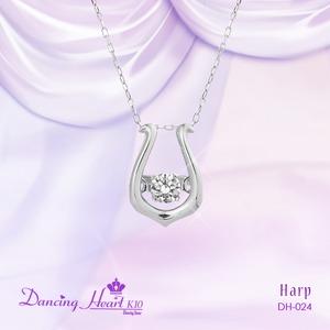 クロスフォーDancing Heart(ダンシングハート) DH-024 【Harp】 ダイヤモンドペンダント/ネックレス - 拡大画像