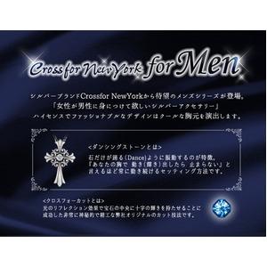 クロスフォーニューヨーク for Men Dancing Stoneシリーズ(ダンシングストーン) Lily of Cross ペンダント NMP-001