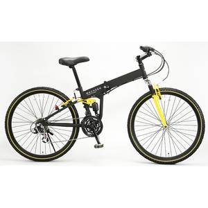 WACHSEN(ヴァクセン) 折り畳み自転車 BM200-BYL 26インチ 18段変速 ブラック/イエロー (マウンテンバイク) - 拡大画像