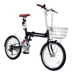 HEAVEN's(ヘブンズ) 20インチ折り畳み自転車 BF-K206 シマノ6段変速モデル ブラック - 拡大画像