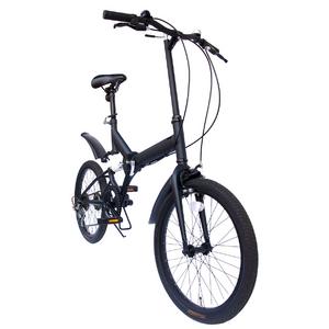 20インチ折畳自転車 ツヤ消しカラー グローイングフラット リミテッド - 拡大画像