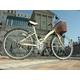 WACHSEN(ヴァクセン) 折りたたみ自転車 BC626-WB 26インチ シマノ6段変速付 アイボリー/モスグリーン (シティサイクル) - 縮小画像3