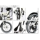 WACHSEN(ヴァクセン) アルミ折り畳み自転車 16インチ 7段変速付き BA-160 fran 自転車用アクセサリー4種セット - 縮小画像6