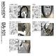 WACHSEN(ヴァクセン) 20インチアルミ 折り畳み自転車 Weiβ(ヴァイス) 6段変速付 BA-101 - 縮小画像4