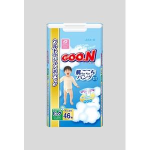 Goo.n(グーン) おむつ 肌ごこちパンツ BIGサイズ 46枚 男の子 【3セット】 - 拡大画像