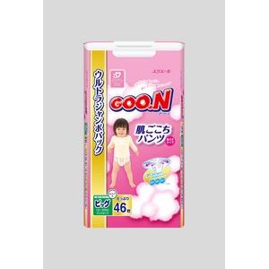 Goo.n(グーン) おむつ 肌ごこちパンツ BIGサイズ 46枚 女の子 【3セット】 - 拡大画像