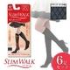 スリムウォーク スレンダーショート ショートストッキング 【6足セット】 ブラック ダイヤ柄S-M - 縮小画像1