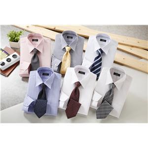 銀座・丸の内のOL100人が選んだワイシャツ&ネクタイセット(カラー系) L 50172-L - 拡大画像