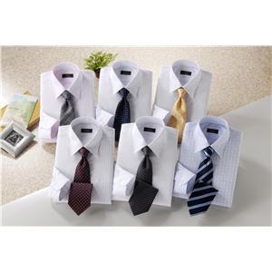 銀座・丸の内のOL100人が選んだワイシャツ&ネクタイセット(白系) 3L 50173-3L - 拡大画像
