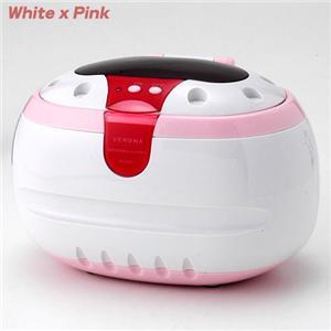 超音波洗浄器 VERONA ホワイト×ピンク - 拡大画像