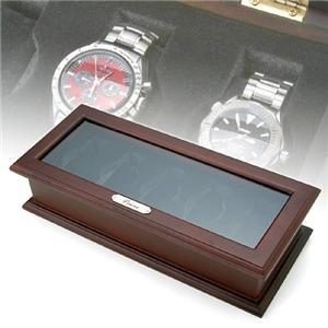 木製5本時計収納ケース 189982 - 拡大画像