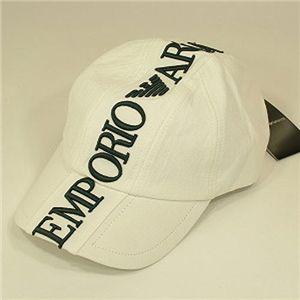 EMPORIO ARMANI(エンポリオ・アルマーニ) ベースボールキャップ 679 ホワイト Lサイズ - 拡大画像