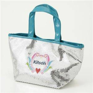 Kitson(キットソン) スパンコールミニトートバッグ【CREST SEQUIN MINI TOTE】3919 Silver - 拡大画像