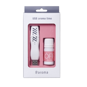 USB aroma time スターターセット「OFF」(本体色ピュアホワイト オイル付) - 拡大画像