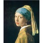 世界の名画シリーズ、プリハード複製画 ヨハネス・フェルメール作 「青いターバンの少女」