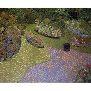 世界の名画シリーズ、プリハード複製画 ヴィンセント・ヴァン・ゴッホ作 「オーヴェールの庭」 - 拡大画像
