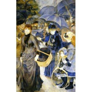 世界の名画シリーズ、プリハード複製画 ピエール・オーギュスト・ルノアール作 「雨傘」 - 拡大画像