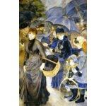 世界の名画シリーズ、プリハード複製画 ピエール・オーギュスト・ルノアール作 「雨傘」