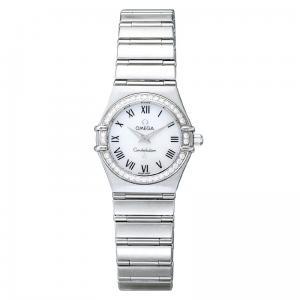 OMEGA(オメガ) 腕時計 コンステレーション ダイヤベゼル ホワイトシェル ローマン レディース 1476.61 - 拡大画像