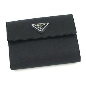 プラダ Wホック 2つ折り財布 1M0523 TESSUTO BK - 拡大画像
