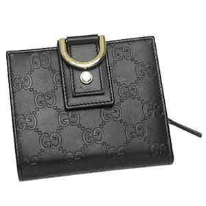 Gucci(グッチ) 154255 AA61G 1000 Wホック BK/GO - 拡大画像