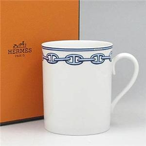 Hermes(エルメス) シェーヌダンクルブルー マグカップ 2734 - 拡大画像