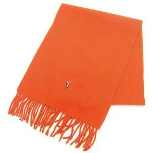Ralph Lauren ポニー刺繍 カラーマフラー 605855 Orange - 拡大画像