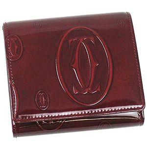 Cartier(カルティエ) 三つ折り財布(小銭入れ付) L3000720 ハッピーバースディ ワイン - 拡大画像