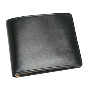 NICOLA FERRI(ニコラフェリー)二つ折り財布(小銭入れ付)370202ブラック - 拡大画像