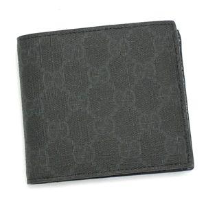 GUCCI(グッチ)二つ折り財布(小銭入れ付) 118379 F069R 1073 ブラック - 拡大画像