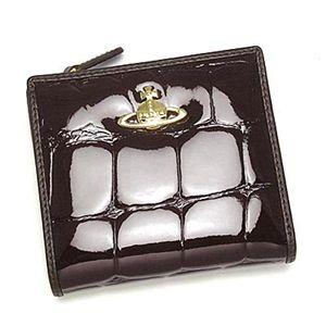 Vivienne Westwood(ヴィヴィアンウエストウッド)二つ折り財布(L字ファスナー)1424ダークブラウン - 拡大画像