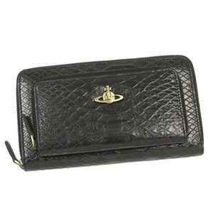 Vivienne Westwood(ヴィヴィアンウエストウッド)長札財布L字ファスナー4142ブラック - 拡大画像