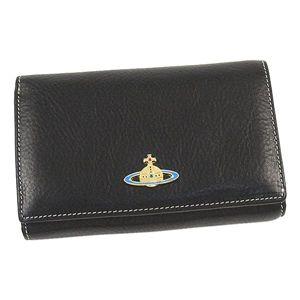 Vivienne Westwood(ヴィヴィアンウエストウッド)二つ折り財布(小銭入れ付)2232ブラック - 拡大画像