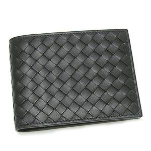 BOTTEGA VENETA(ボッテガヴェネタ)二つ折り財布(小銭入れ付) 113112 V4651 1000 ブラック - 拡大画像
